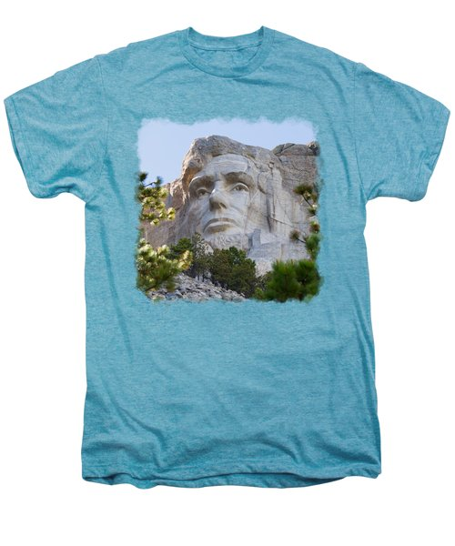 Unfinished Lincoln 3 Men's Premium T-Shirt by John M Bailey