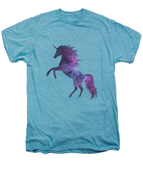 Unicorn In Space-transparent Background Men's Premium T-Shirt