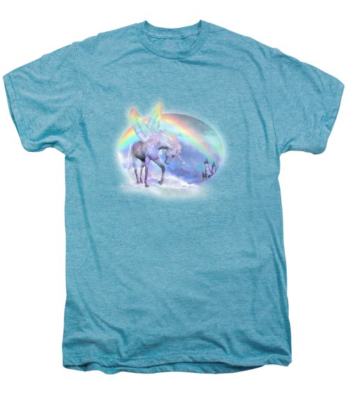 Unicorn Of The Rainbow Men's Premium T-Shirt by Carol Cavalaris