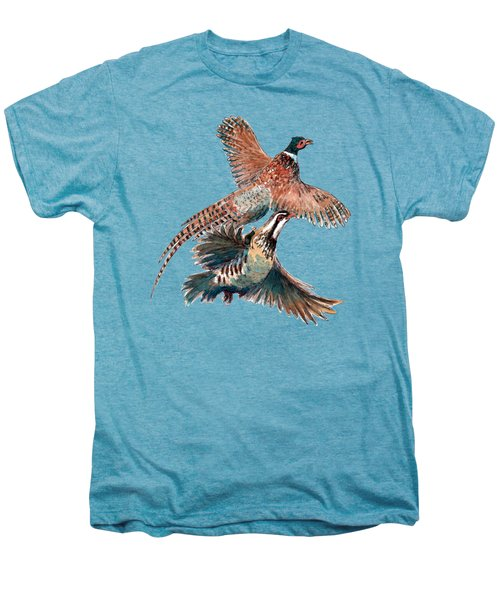 Up And Away Partridge And Pheasant Men's Premium T-Shirt by Richard Skilton