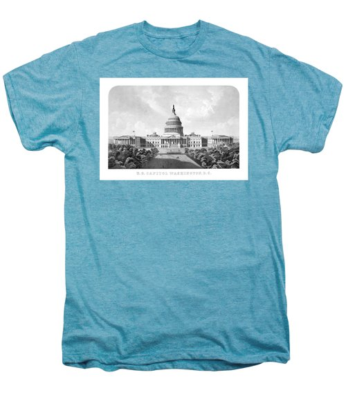 Us Capitol Building - Washington Dc Men's Premium T-Shirt by War Is Hell Store