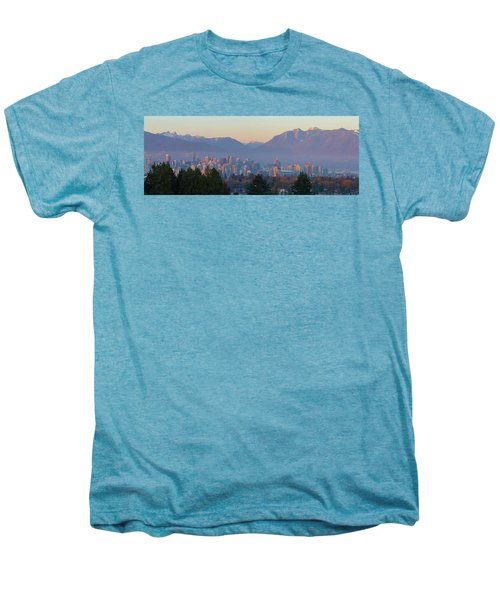 Vancouver Bc Downtown Cityscape At Sunset Panorama Men's Premium T-Shirt