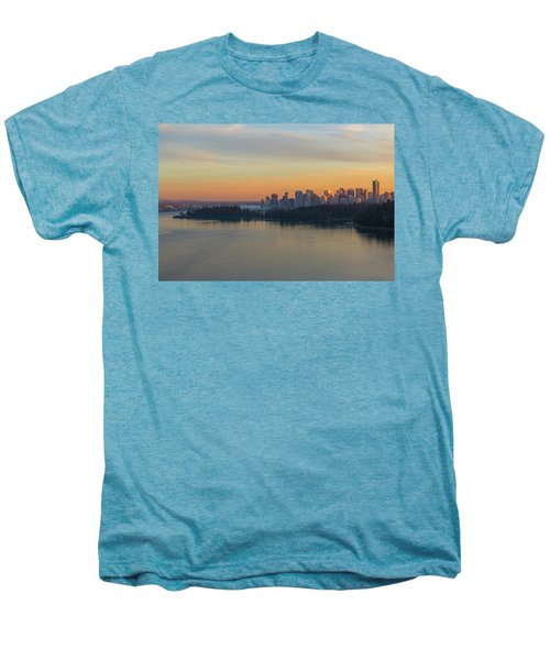 Vancouver Bc Skyline And Stanley Park At Sunset Men's Premium T-Shirt