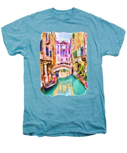Venice Canal 2 Men's Premium T-Shirt by Marian Voicu