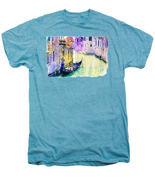 Venice Canal Men's Premium T-Shirt by Marian Voicu