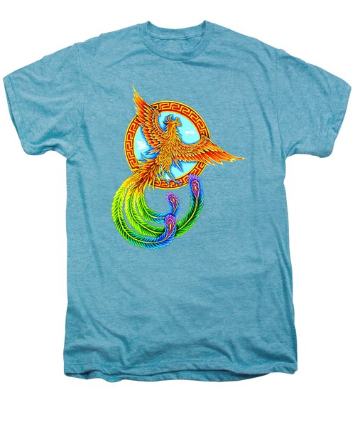 Vermilion Bird Men's Premium T-Shirt by Rebecca Wang