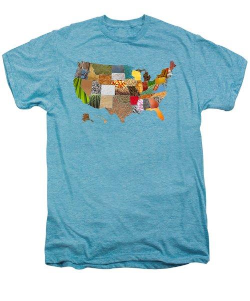 Vibrant Textures Of The United States Men's Premium T-Shirt