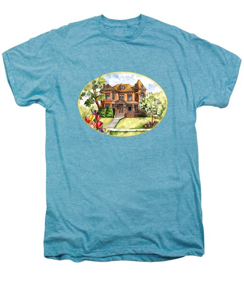 Victorian Mansion In The Spring Men's Premium T-Shirt by Shelley Wallace Ylst