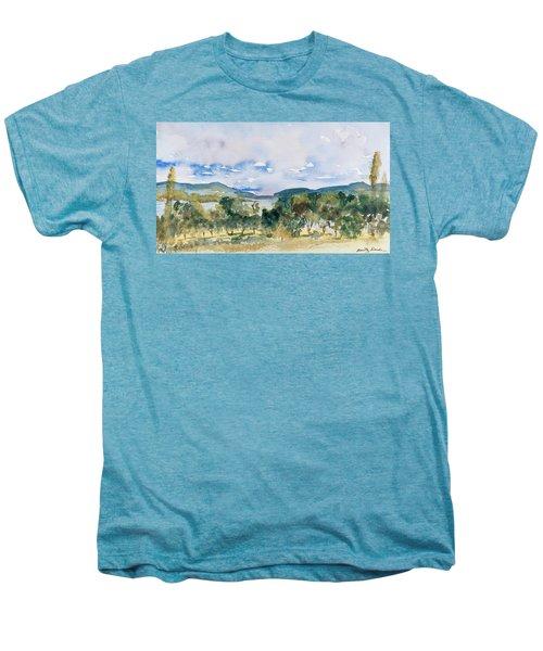 View Of D'entrecasteaux Channel From Birchs Bay, Tasmania Men's Premium T-Shirt