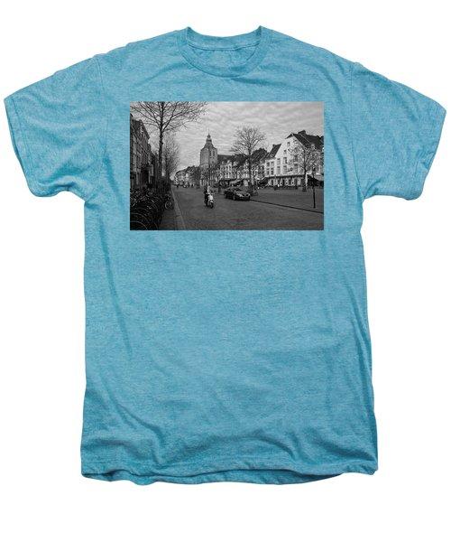 View To The Bosch Street In Maastricht Men's Premium T-Shirt by Nop Briex