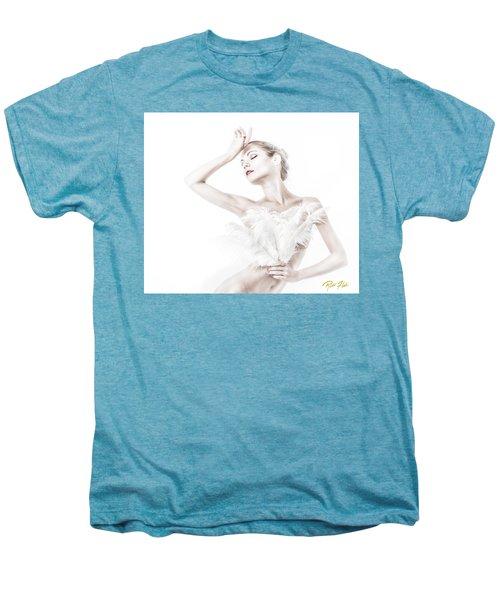Viktory In White - Feathered Men's Premium T-Shirt by Rikk Flohr