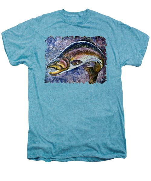 Vintage Blue Trout Fresco  Men's Premium T-Shirt by Lena  Owens OLena Art