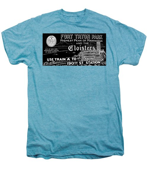 Vintage Cloisters And Fort Tryon Park Poster Men's Premium T-Shirt