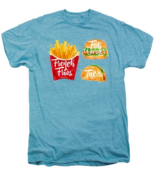 Vintage French Fries Men's Premium T-Shirt by Aloke Creative Store
