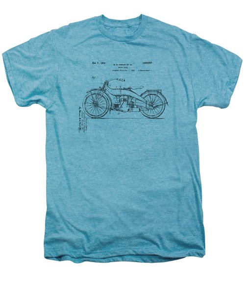 Vintage Harley-davidson Motorcycle 1924 Patent Artwork Men's Premium T-Shirt by Nikki Smith