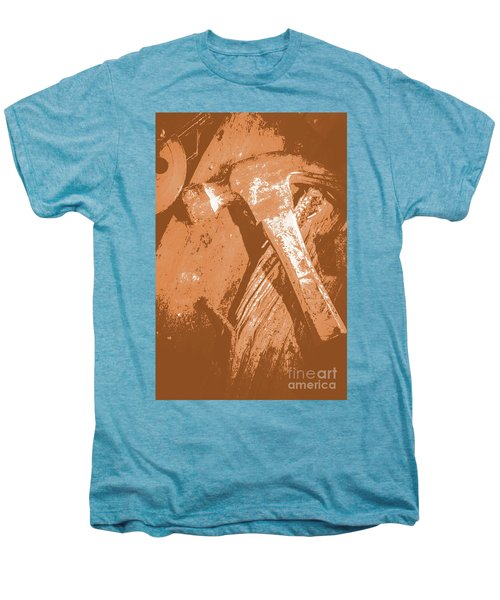 Vintage Miners Hammer Artwork Men's Premium T-Shirt