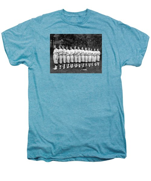 Vintage Photo Of Women's Baseball Team Men's Premium T-Shirt by American School
