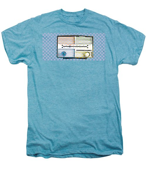 Vintage Radio Purple Dots Mug Men's Premium T-Shirt by Edward Fielding