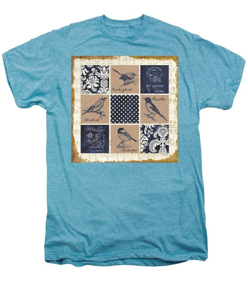 Vintage Songbird Patch 2 Men's Premium T-Shirt by Debbie DeWitt