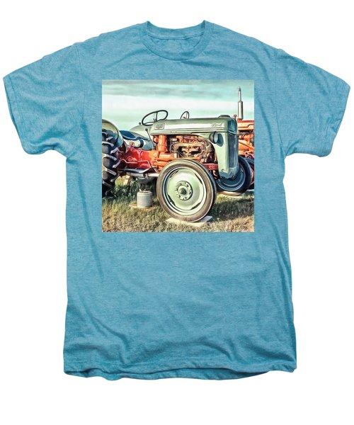 Vintage Tractors Pei Square Men's Premium T-Shirt