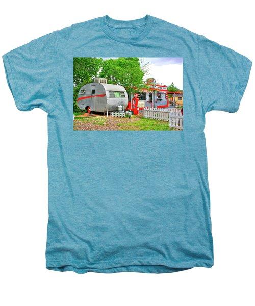 Vintage Trailer And Diner In Bisbee Arizona Men's Premium T-Shirt