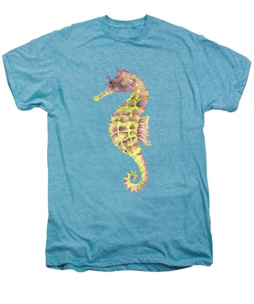 Violet Green Seahorse - Square Men's Premium T-Shirt