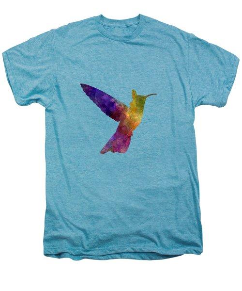Hummingbird 02 In Watercolor Men's Premium T-Shirt
