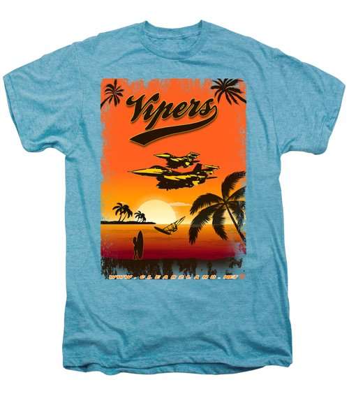 Vipers  F16 Men's Premium T-Shirt by Clear II land Net