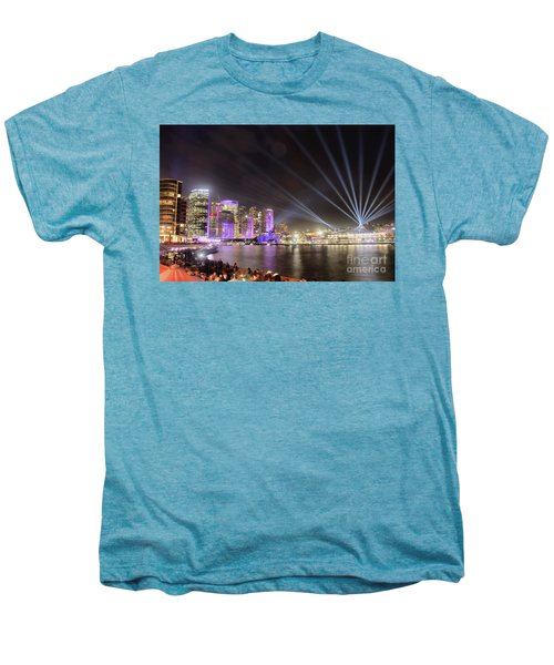Vivid Sydney Skyline By Kaye Menner Men's Premium T-Shirt by Kaye Menner