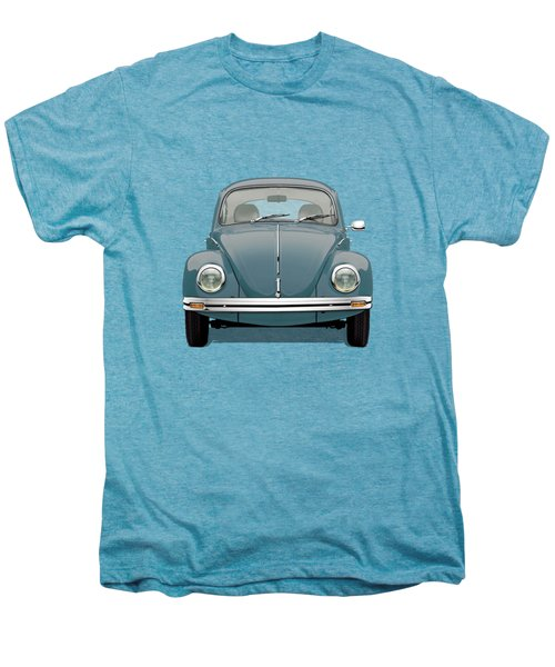 Volkswagen Type 1 - Blue Volkswagen Beetle On Yellow Canvas Men's Premium T-Shirt
