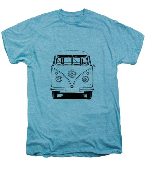 Vw Bus T-shirt Men's Premium T-Shirt by Edward Fielding
