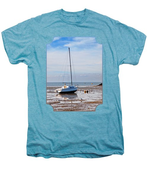 Waiting For High Tide Men's Premium T-Shirt by Gill Billington
