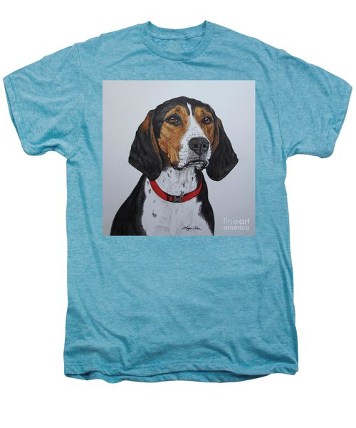 Walker Coonhound - Cooper Men's Premium T-Shirt by Megan Cohen