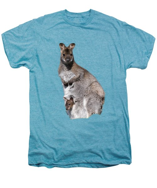 Wallaby Men's Premium T-Shirt by Scott Carruthers