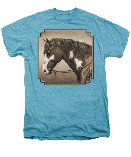 War Horse Aged Photo Fx Men's Premium T-Shirt by Crista Forest