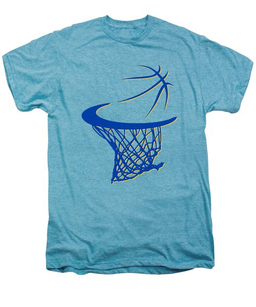 Warriors Basketball Hoop Men's Premium T-Shirt by Joe Hamilton