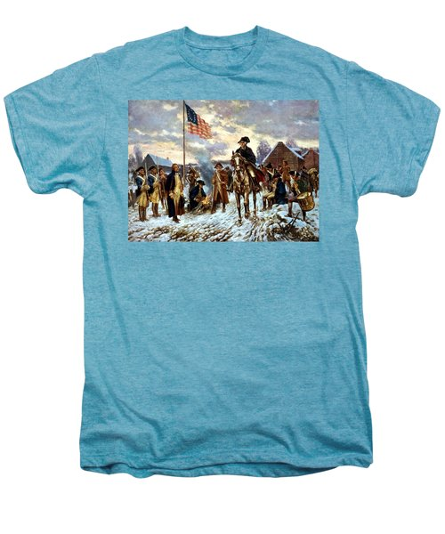 Washington At Valley Forge Men's Premium T-Shirt by War Is Hell Store