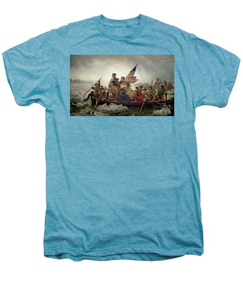 Washington Crossing The Delaware River Men's Premium T-Shirt by Emanuel Gottlieb Leutze