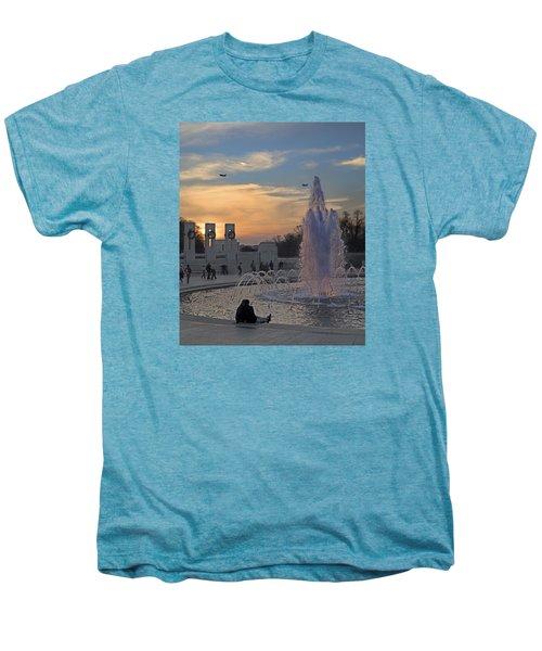 Washington Dc Rhythms  Men's Premium T-Shirt by Betsy Knapp