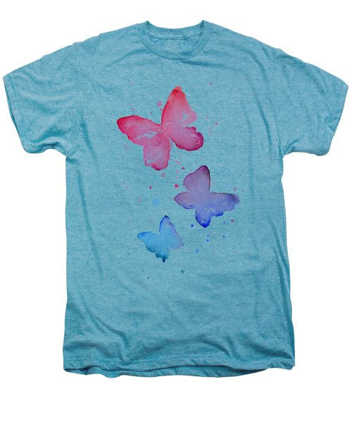 Watercolor Butterflies Men's Premium T-Shirt by Olga Shvartsur