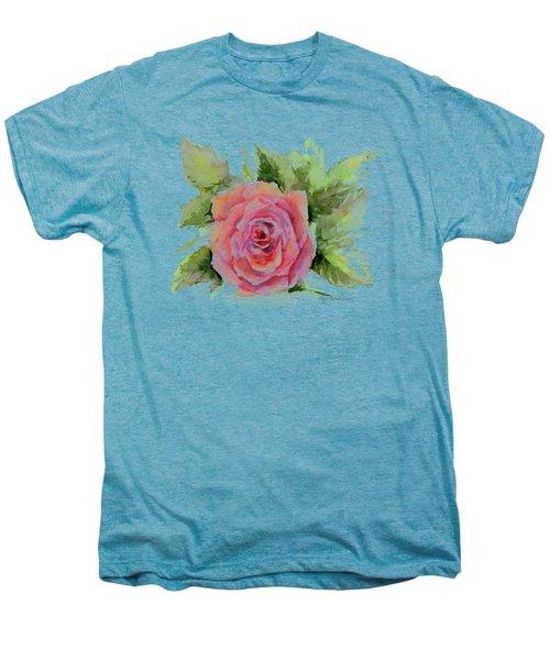 Watercolor Rose Men's Premium T-Shirt