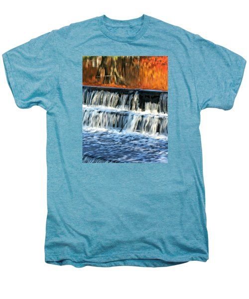 Waterfall In Downtown Waukesha Men's Premium T-Shirt