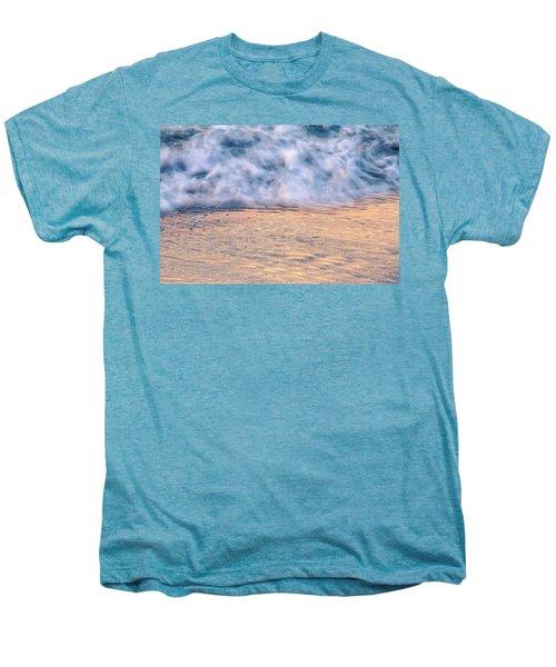 Men's Premium T-Shirt featuring the photograph Wave Abstract 3, Hoi An, 2014 by Hitendra SINKAR