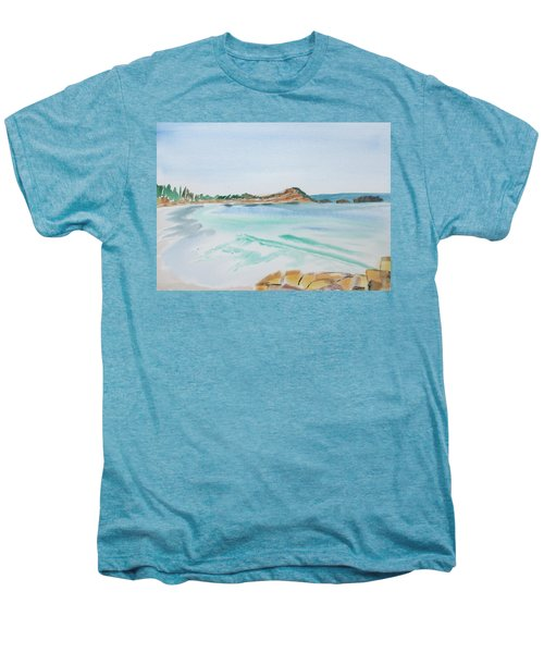 Waves Arriving Ashore In A Tasmanian East Coast Bay Men's Premium T-Shirt