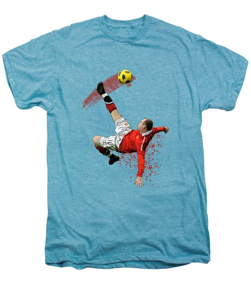 Wayne Rooney Men's Premium T-Shirt by Armaan Sandhu