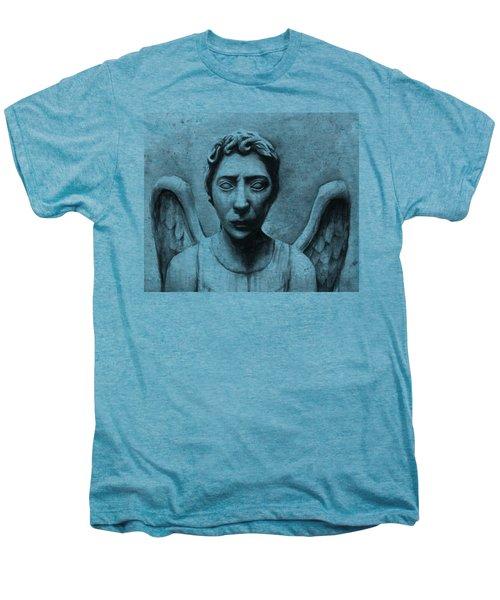 Weeping Angel Don't Blink Doctor Who Fan Art Men's Premium T-Shirt by Olga Shvartsur