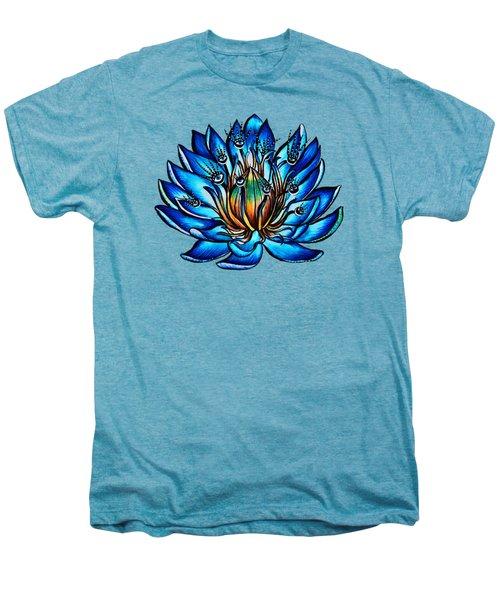 Weird Multi Eyed Blue Water Lily Flower Men's Premium T-Shirt