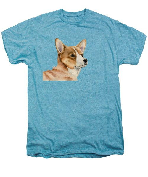 Welsh Corgi Dog Painting Men's Premium T-Shirt