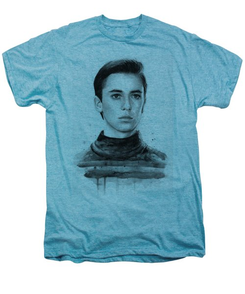 Wesley Crusher Star Trek Fan Art Men's Premium T-Shirt by Olga Shvartsur