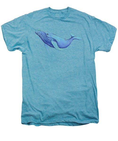Whale Watercolor Humpback Men's Premium T-Shirt